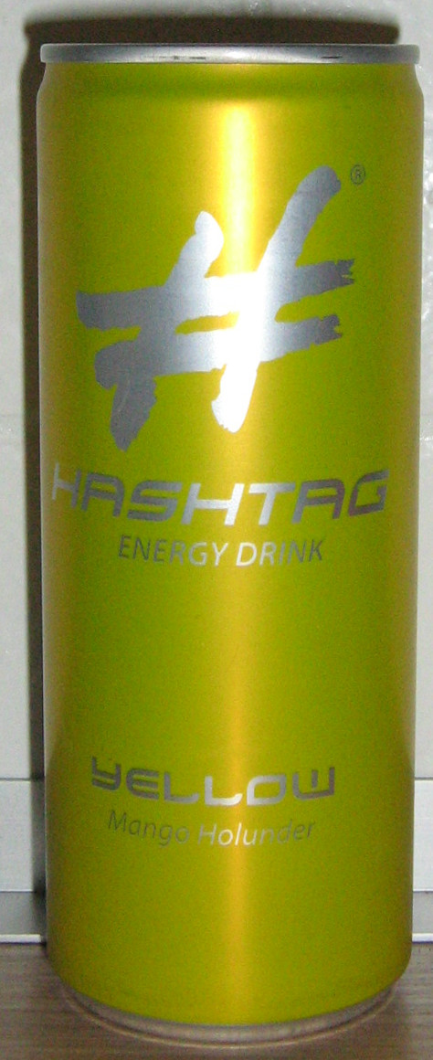 Hashtag Energydrink Yellow